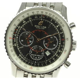 Breitling Montbrillant A41370 Chronograph Stainless Steel Automatic 37mm Mens Watch