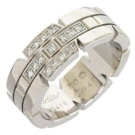 Cartier 18K White Gold Mai Young Pantail Diamond Ring Size 4