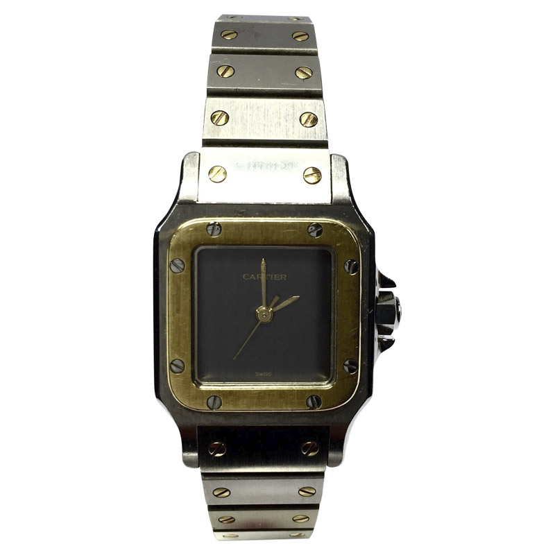 """Image of """"Cartier Santos 2 Tone 18K Yellow Gold & Stainless Steel Automatic 24mm"""""""