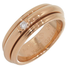 Piaget 18K Rose Gold 0.01ct. Diamond Ring Size 5.75