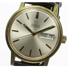 Omega Stainless Stainless Steel / Gold Plated 35mm Mens Watch