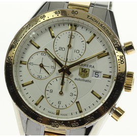 Tag Heuer Carrera CV2050 Stainless Steel / Gold Plated 41mm Mens Watch