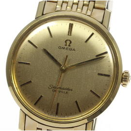 Omega Seamaster Deville Stainless Steel/Gold Plated Rice Bracelet Automatic 35mm Mens Watch