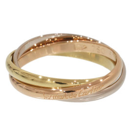 Cartier 18K Pink & White & Yellow Gold Trinity de Cartier 3 Bands Ring Size 5.5