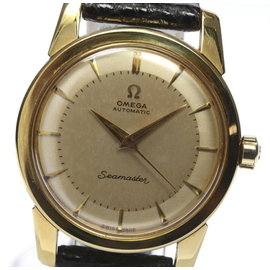 Omega Seamaster 18K Solid Gold Automatic 34mm Mens Watch