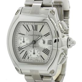 Cartier Roadster XL 2618 Stainless Steel with Silver Dial 43mm Mens Watch