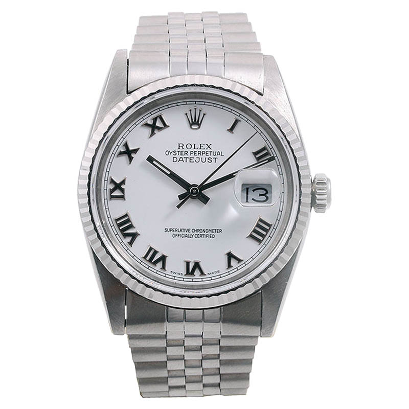 """Image of """"Rolex Datejust 16234 18K White Gold/ Stainless Steel 36mm Mens Watch"""""""