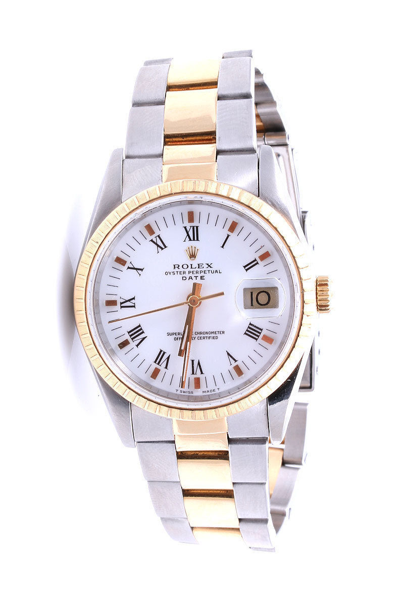 """Image of """"Rolex Oyster Perpetual Date 18K Yellow Gold / Stainless Steel 34mm"""""""
