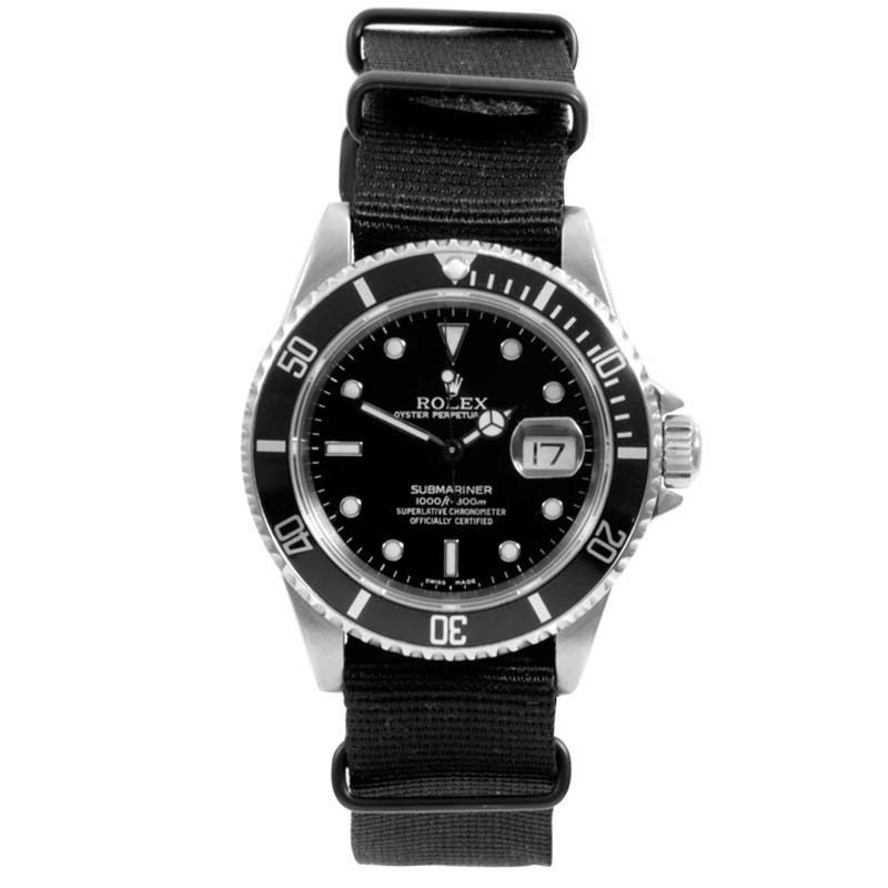 """Image of """"Rolex Submariner 16610 Stainless Steel / Nato Strap 40mm Mens Watch"""""""