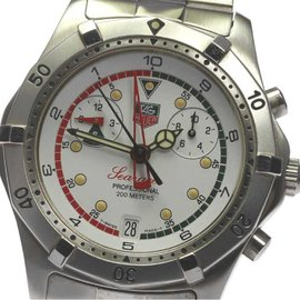 Tag Heuer Sea Racer Chronograph CK111R White Dial Quartz 39mm Mens Watch
