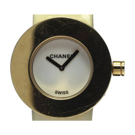 Chanel La Ronde H0584 18K Yellow Gold / Leather 29mm Womens Watch