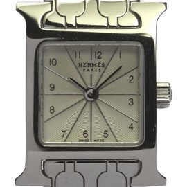 Hermes H Watch HH1.110 Stainless Steel Quartz 17mm Womens Watch
