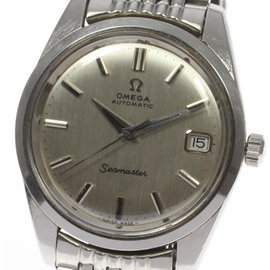 Omega Seamaster Stainless Steel Rice Bracelet Date Automatic 35mm Mens Wrist Watch