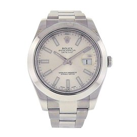 Rolex Datejust II 116300 Stainless Steel Oyster Automatic Silver 41mm Mens Watch