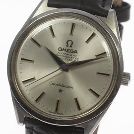Omega Constellation Stainless Steel / Leather 34.5mm Mens Watch