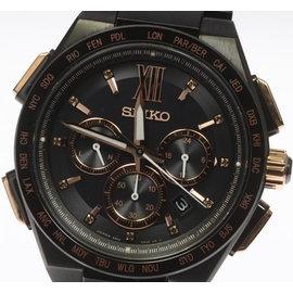 Seiko SAGA214 8B92-0AH0 Titanium Black Dial Quartz 43mm Mens Watch