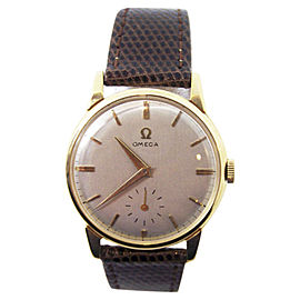 Omega 2894 18K Yellow Gold Vintage 35mm Mens Watch 1950s