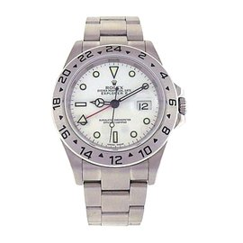 Rolex Explorer II 16570 Stainless Steel Automatic Oyster White 40mm Mens Watch