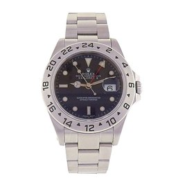 Rolex Explorer II 16570 Stainless Steel Automatic Oyster Black 40mm Mens Watch