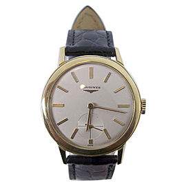 Longines 6879 18K Yellow Gold Vintage 35mm Mens Watch 1950s