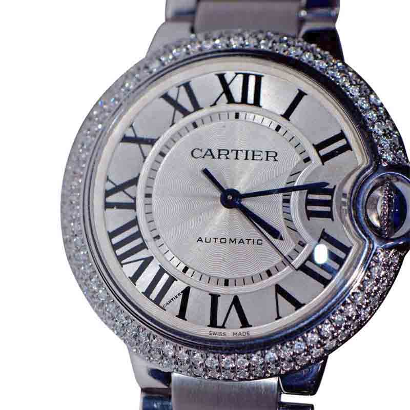 Cartier Ballon Bleu Stainless Steel with Diamond Bezel Automatic 36mm