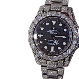 Rolex Sea-Dweller Deepsea XL Stainless Steel with Custom Diamonds 44mm Mens Watch