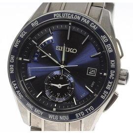 Seiko Brightz 8B54-0BF0 Titanium Ceramics Solar-Quartz 43.5mm Mens Watch