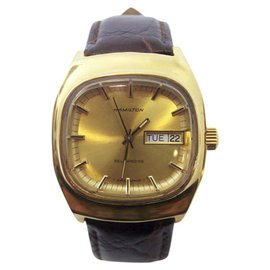 Hamilton Day Date 18K Yellow Gold Automatic 34.8mm Mens Watch 1970s