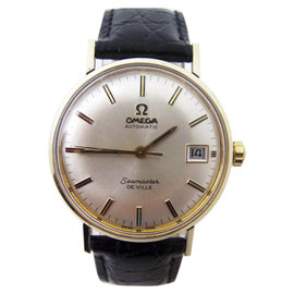 Omega Seamaster De Ville 14K Yellow Gold Automatic Vintage 34mm Mens Watch 1960s