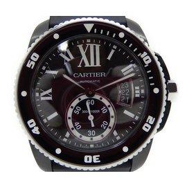 Cartier Calibre de Cartier Diver WSCA0006 Stainless Steel & Rubber 44mm Mens Watch
