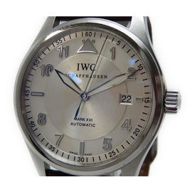 IWC Spirit Fire Mark 16 XVI IW325502 Stainless Steel & Leather 39mm Mens Watch
