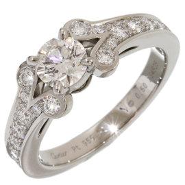 Cartier Ballerine Pt950 Platinum 0.50ct Diamonds Ring Size 5.75
