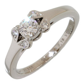 Cartier Ballerine Platinum Pt950 0.19ct Diamonds Ring Size 4