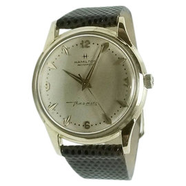 Hamilton Masterpiece Thin-o-matic 14K Yellow Gold 33.5mm Mens Vintage Watch 1960s
