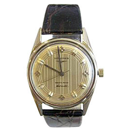 Longines 14K Yellow Gold Automatic Vintage 34mm Mens Watch