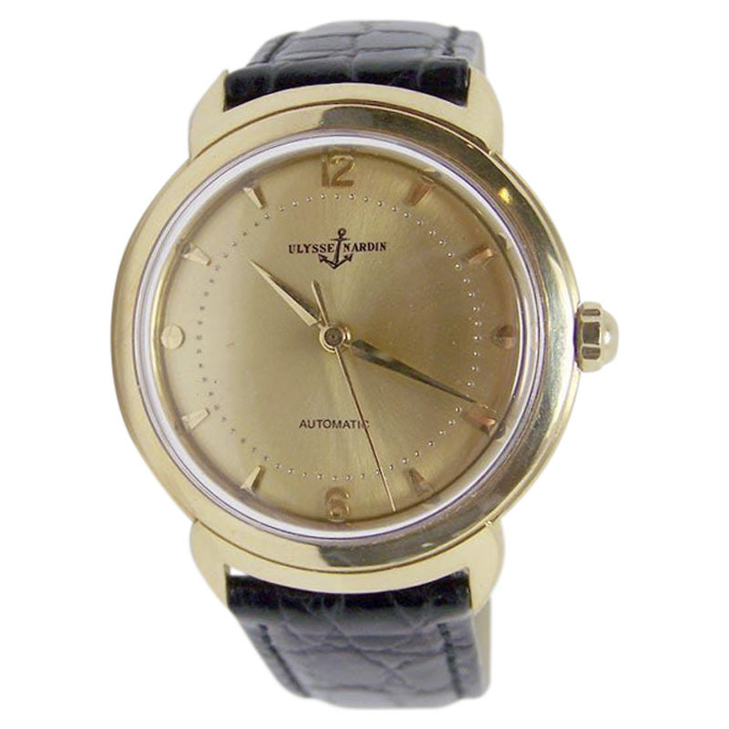 "Image of ""Ulysse Nardin 14K Yellow Gold Automatic Vintage 35mm Mens Watch"""
