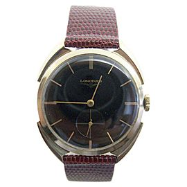 Longines 14K Yellow Gold Hand Winding Vintage 33mm Mens Watch