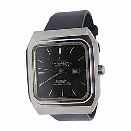 Omega Constellation Stainless Steel / Leather Vintage 37.5mm Mens Watch