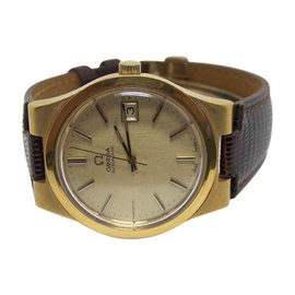 Omega Stainless Steel / Leather Vintage 35.3mm Mens Watch