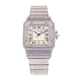 Cartier Santos W20060D6 Stainless Steel Quartz White 30mm Womens Watch