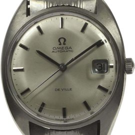 Omega Deville Stainless Steel Automatic Date Silver Dial 34mm Mens Wrist Watch