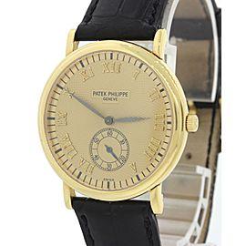 Patek Philippe Calatrava 5022 18K Yellow Gold 33mm Mens Watch