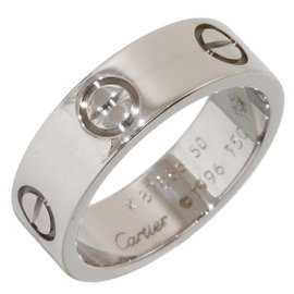 Cartier Love 18K White Gold Ring Size 5.25