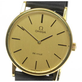 Omega Deville Stainless Steel Gold Plated 32mm Mens Vintage Watch