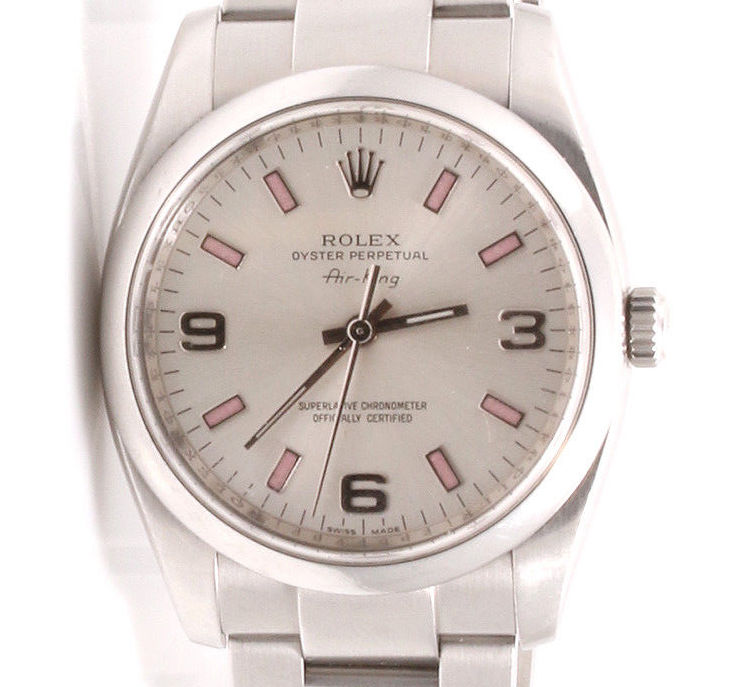 """Image of """"Rolex Air-King 114200 Stainless Steel Pink Dial Oyster Band 34mm"""""""