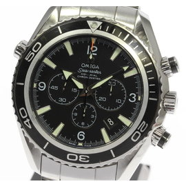 Omega Seamaster Planet Ocean 2210.50 Chronograph Stainless Steel Automatic 45mm Mens Watch