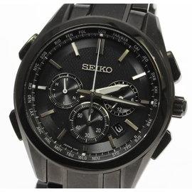 Seiko Brightz 8B92-0AA0 Titanium Solar-Quartz 43.5 mm Mens Watch