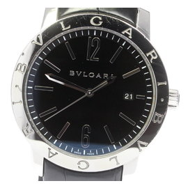 Bulgari BB41S Stainless Steel / Leather Automatic 41mm Mens Watch
