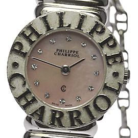 Philippe Charriol ST. Tropez Stainless Steel / 925 Sterling Sliver Quartz 24.5mm Womens Watch