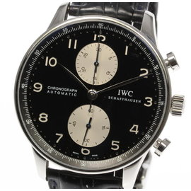 IWC Schaffhausen Portugieser IW371404 Leather / Stainless Steel Automatic 40mm Men's Watch